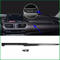 Car styling ABS Carbon Fiber Print For Mazda 6 M6 Atenza 2017 Car Interior Central Console Dashboard Cover Strip Cover Trim LHD
