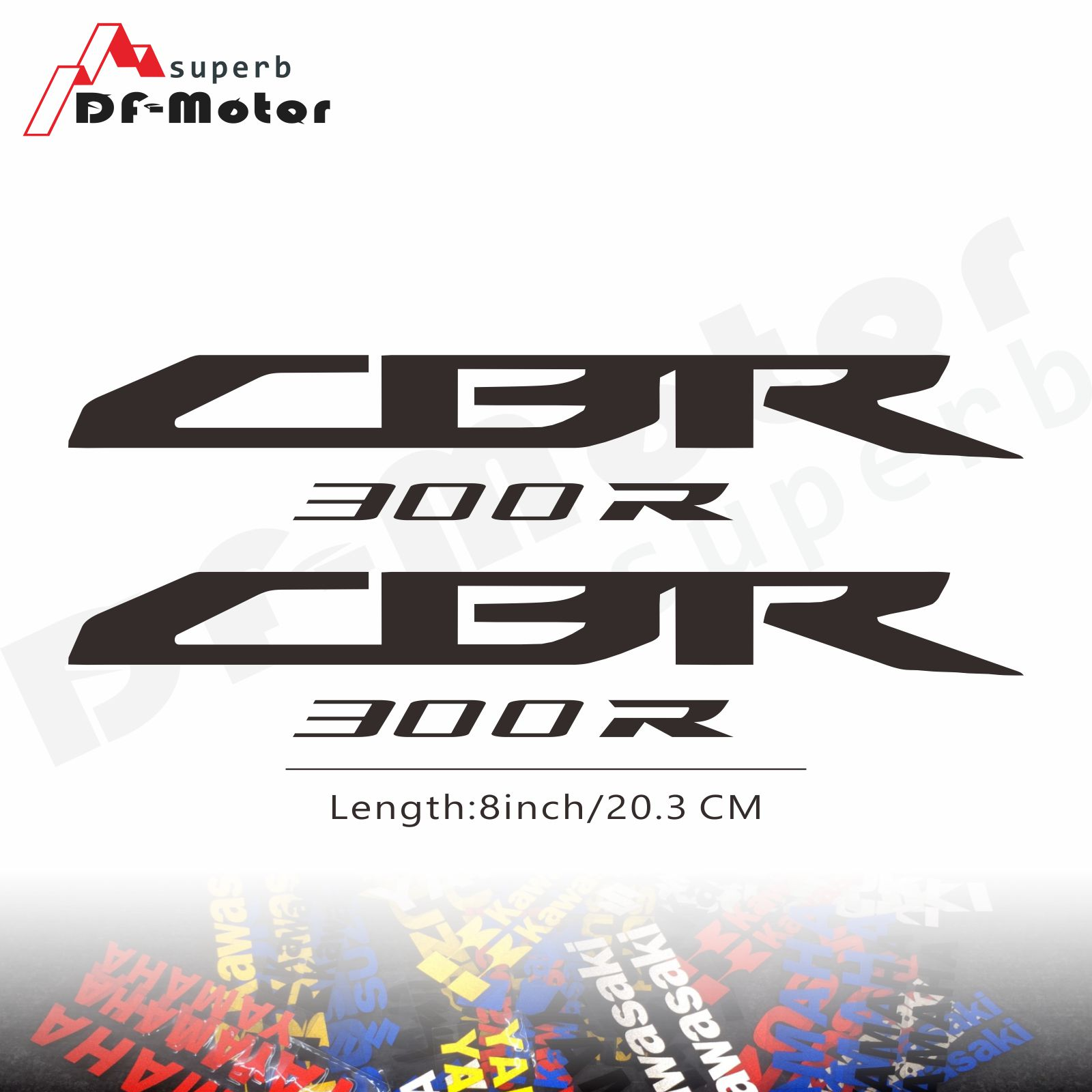 8Inch Reflective Sticker Decal Motorcycle Car Sticker Wheels Fairing Helmet Sticker Decal For Honda CBR300R CBR 300 R