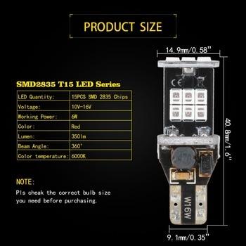 2PCS T15 T16 W16W 912 921 CANBUS Error Free LED Bulbs Car Back-up