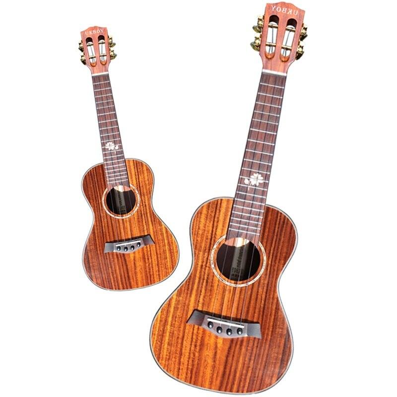 23 pouces Acacia mangium tout en bois unique haut guitare ukulélé 23 pouces hawaïen petite guitare classique cordes tête tuning tête