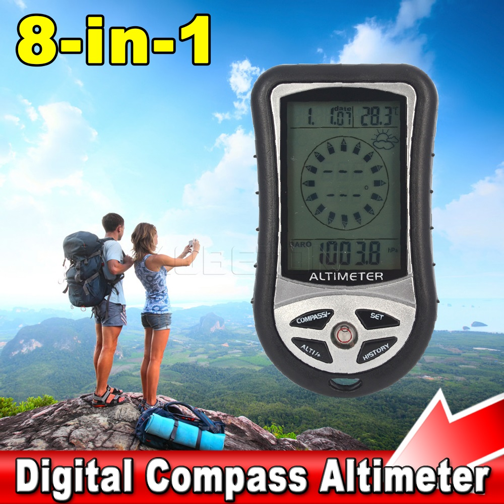 Ultra Parctical 8 in 1 Digital Compass Altimeter Barometer Thermometer Weather