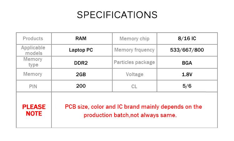 DDR2 2GB 533 667 800