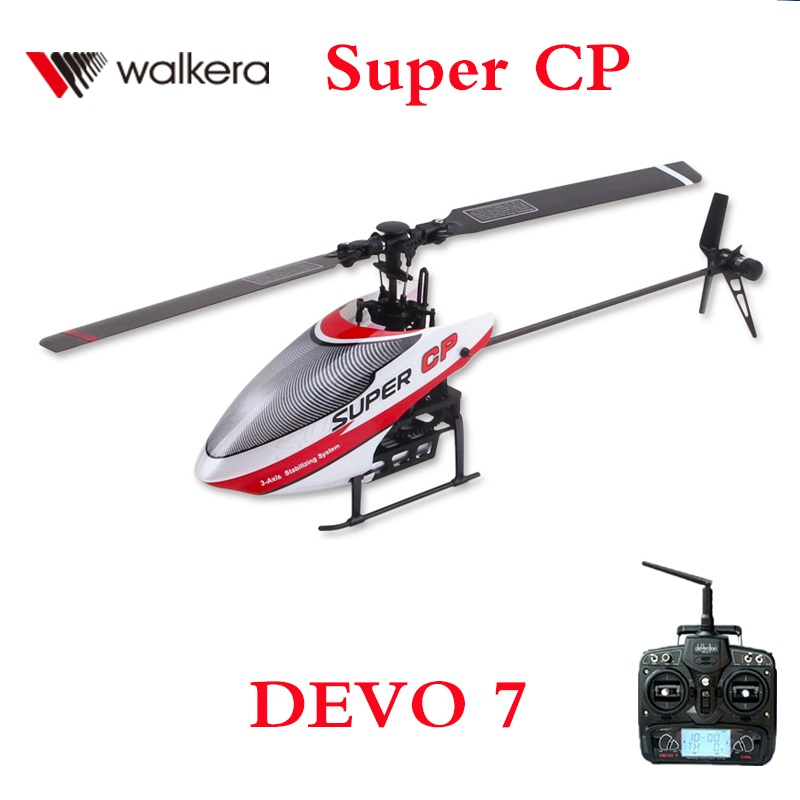 Walkera Super CP With DEVO 7 Transmitter 2.4Ghz 6CH 3D RC Helicopter RTF Remote Control Toy original walkera devo f12e fpv 12ch rc transimitter 5 8g 32ch telemetry with lcd screen for walkera tali h500 muticopter drone