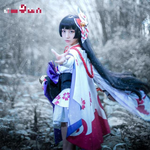 Onmyoji Yuki Onna Cosplay Japanese Snow Fairy Idolized Kimono Costume Japanese Uniform Game Cosplay 2