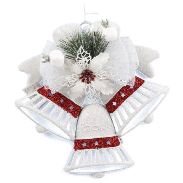 white christmas home door window ornaments christmas decoration xmas tree hanging decor three bells with