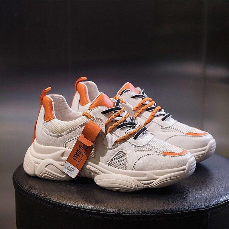 2019 женские кроссовки на толстой платформе, разноцветные женские ботинки с массивным каблуком, женские повседневные кроссовки на платформе 5 см, Новинка