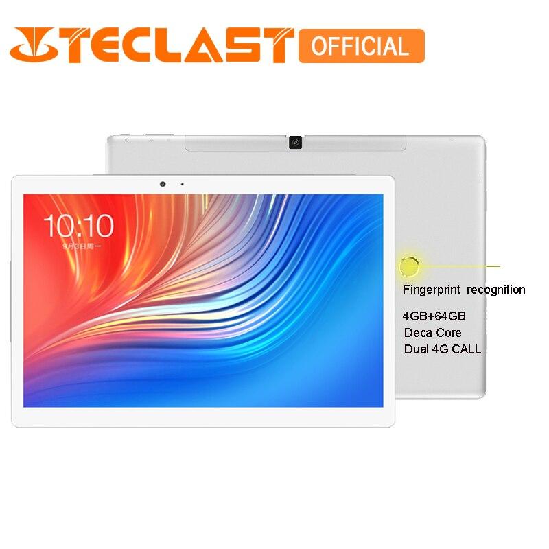 Teclast T20 4g Del Telefono MT6797 X27 Deca Core 4 gb di ROM + 64 gb di Riconoscimento Delle Impronte Digitali di RAM 10.1 pollice android 7.0 di GPS Dual WiFi Tablet PC