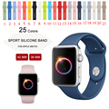25 Colors Silicone Sport Band With Connector Adapter For Apple Watch Band For iWatch Series 1 Series 2 Sports Buckle Bracelet