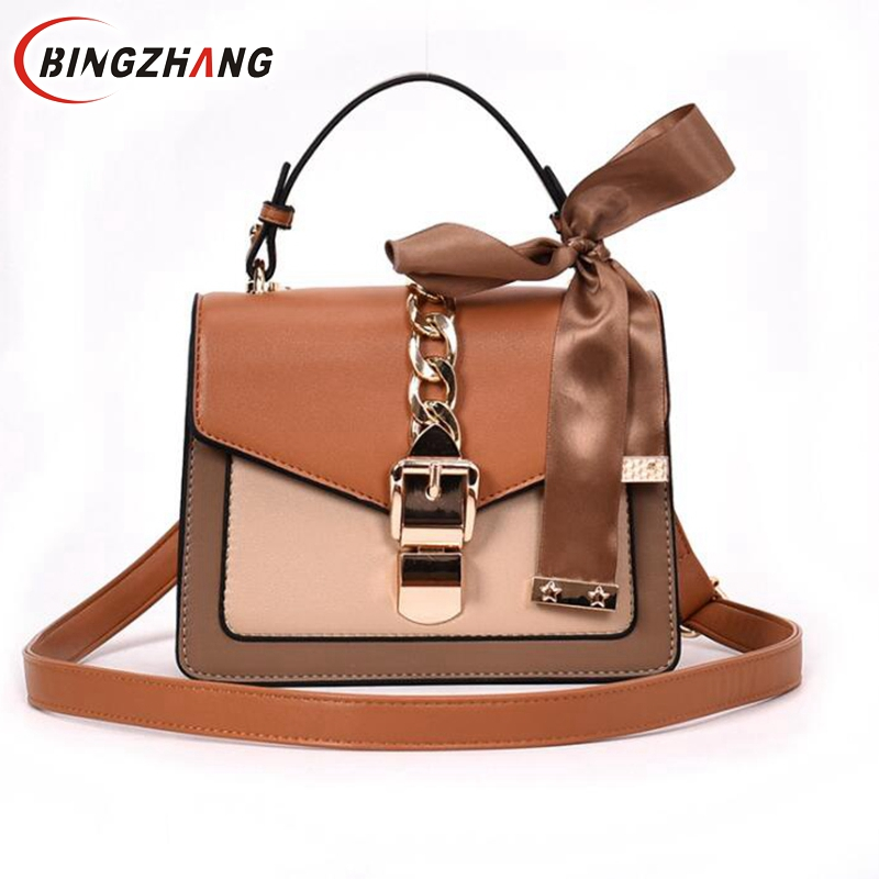 Ladies Small Square Package,Wild Retro Personality Lock Shoulder Bag Crossbody Bags For Girls