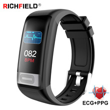 цена Smart Bracelet ECG PPG Smart Band Blood pressure Watch Sleep Monitor Sport SmartBand Fitness Activity Tracker Health Wristband