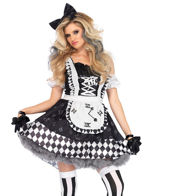 9b14136e77 US $24.05 8% OFF Alice in Wonderland Sexy Mad Hatter Costumes Women  Halloween Party Outfit Fancy Dress Mad Hatter Costume Adults Women  Fantasias on ...