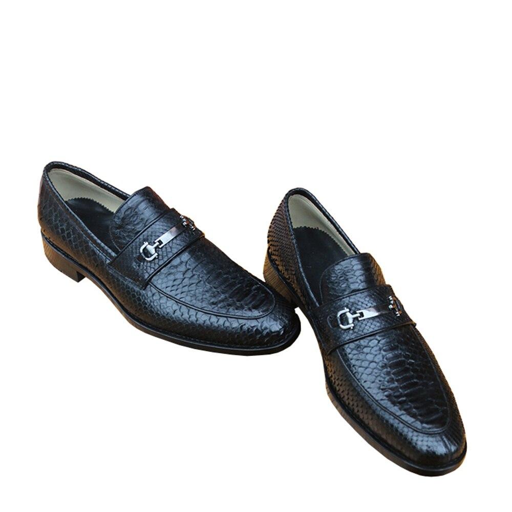 Vestido Desgaste Couro Patrão Dos Real Negócios Homens Luxo Cobra Sapatos Clássicos De Escritório 46 Sipriks Python Em Sapato Sapatas Preto Deslizamento Pele R0CqPFHWww