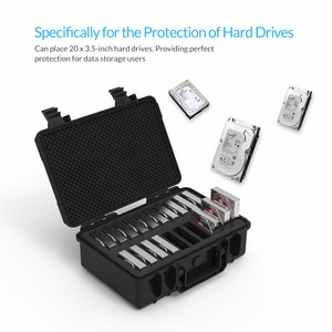 Image 4 - Orico 3.5 Inch 20 Bay Hdd Harde Schijf Externe Protection Storage Case Box Portable Multi Bay Water \ Stof \ shock Proof
