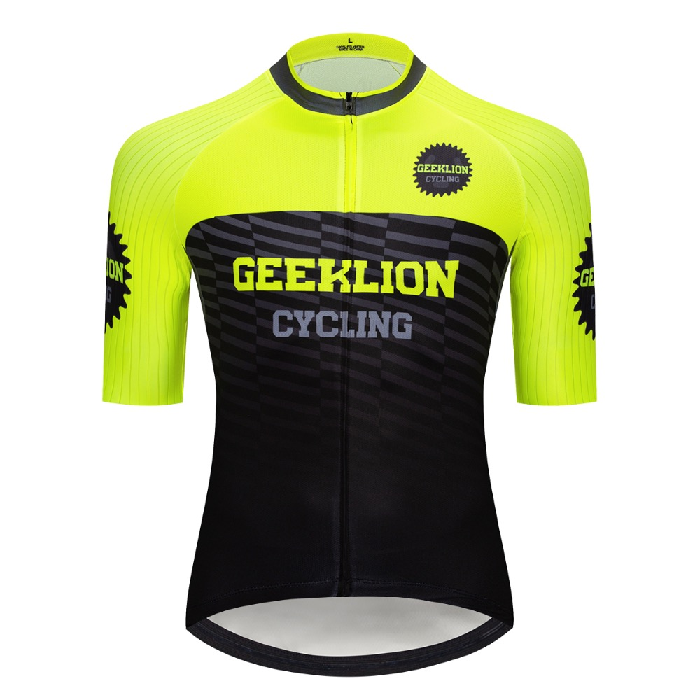 PRO Fit Cut New Flour Color Racing Geeklion Short Sleeves Summer Cycling  Jersey Ropa Quick Dry ba7d255ea