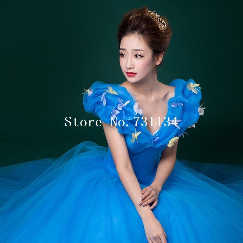 b0e15550cbeea Palace adulte madame Sexy cendrillon bleu robes Occasion spéciale théâtre  scène spectacle papillon Appliques robe de princesse dans Robes de Mode  Femme et ...