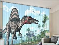 Animals Dinosaur print Luxury Blackout 3D Window Curtain For Living Room kids Bedroom Drapes Rideaux Cortinas Customized size