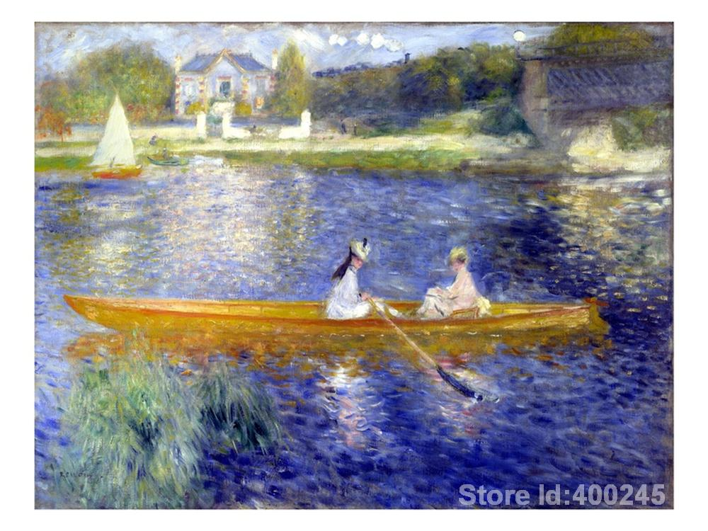 painting of Boats The Skiff La Yole Pierre Auguste Renoir reproduction canvas art hand painted High qualitypainting of Boats The Skiff La Yole Pierre Auguste Renoir reproduction canvas art hand painted High quality