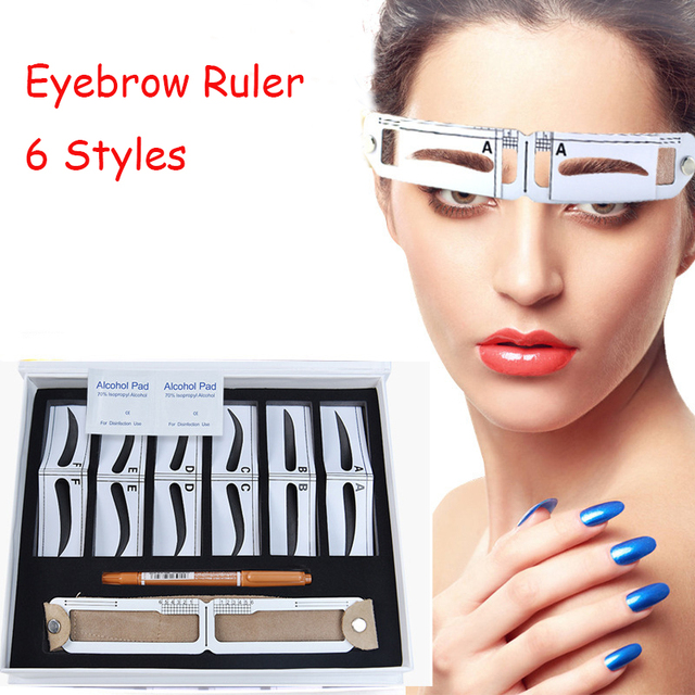Microblading Eyebrow Stencil Golden Ratio Measure Models Shaping Permanent Makeup Tattoo Design Calipers Stencil Eyebrow Ruler