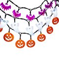 20 LED Halloween Lights 3pcs(White Crystal Ghost + Orange Pumpkin + Purple Bat ) Fairy String Lights Decoration Light String