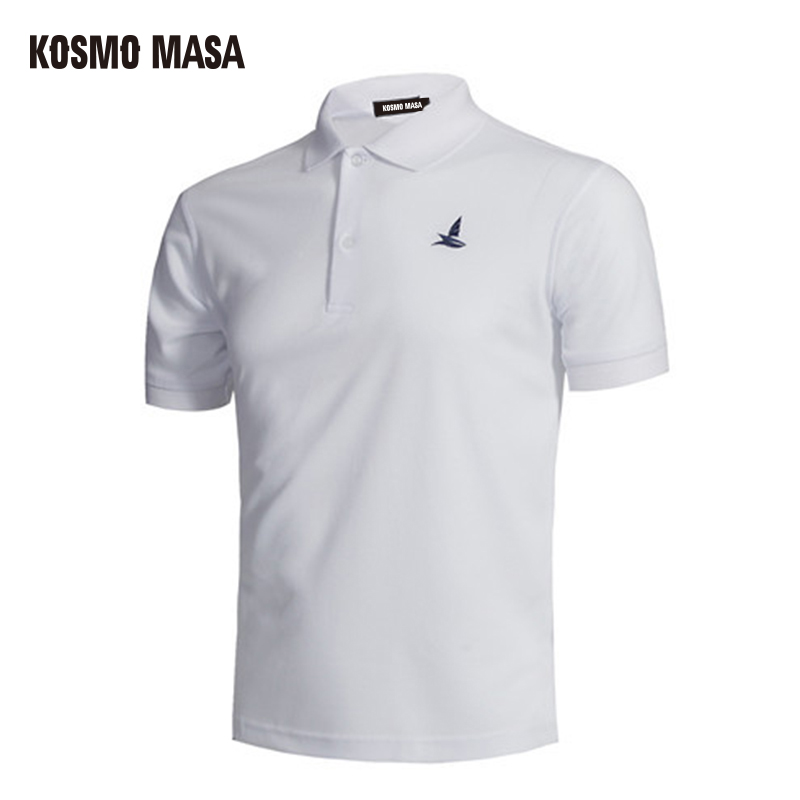 KOSMO MASA 2017 Quick Dry   Polo   Shirt For Men Turndown Collar Breathable Solid Casual Men's Jersey Short Sleeve Shirts PS0019