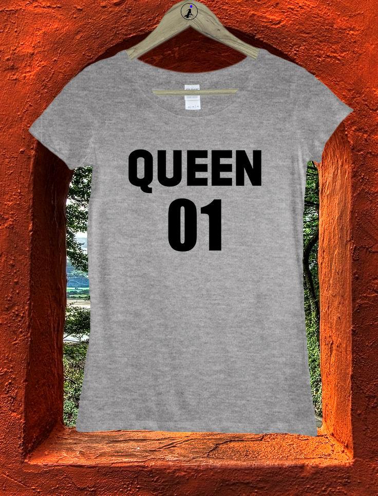 Queen 01 Princess Number One Girlfriend Women Girls T shirt Top Tee W159 Men 39 S T Shirts Summer Style Fashion Swag Men T Shirts in T Shirts from Men 39 s Clothing