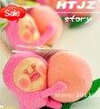 C & Z Аниме мультфильм Мини Kobito проведение большой персик уродливые симпатичные каваи стиль плюшевые кулон модель игрушки плюшевые куклы реальные фотографии