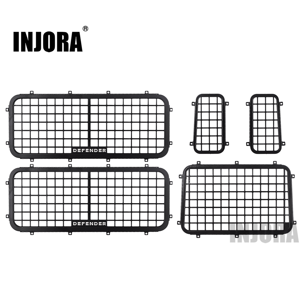 INJORA 5Pcs Metal Stereoscopic Window Mesh Protective Net For 1/10 RC Crawler Car Traxxas TRX-4 TRX4 Defender