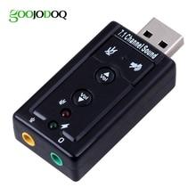 GOOJODOQ External USB AUDIO SOUND CARD ADAPTER VIRTUAL 7 1 ch USB 2 0 Mic Speaker