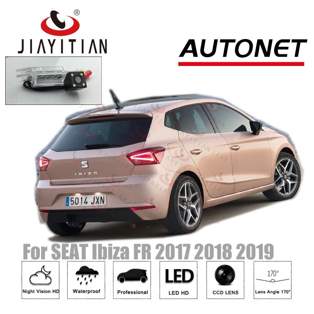 Cámara de visión trasera jIiaYiTian para SEAT Ibiza FR 2017 2018 2019 5D, cámara de visión nocturna CCD, cámara para matrícula, cámara de marcha atrás