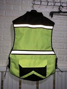 Image 4 - Motosiklet gece yansıtıcı yelek, güvenlik yeleği, erkek hi viz yansıtıcı yelek