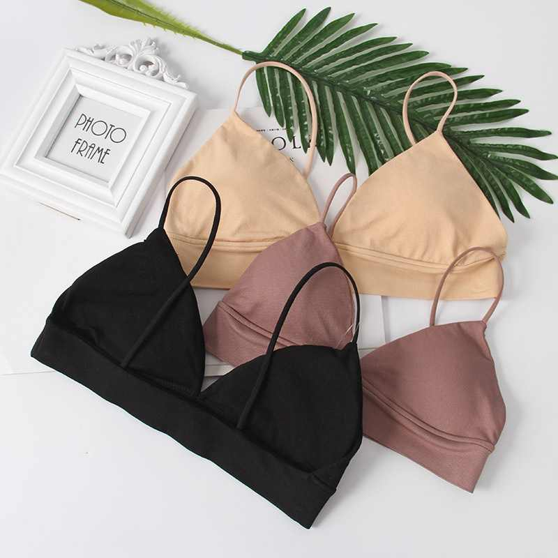Comfort Wireless Female Underwear Sexy Deep V Bras Women Push Up Seamless Bra