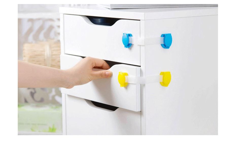 Plastic Child Lock 10 Pcs/Lot Children Protection Baby Safety Infant Security Closet Lock Window Lock Door Interlocks For Child
