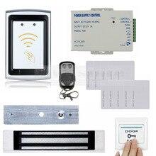 DIYSECUR Дистанционного Управления 125 КГц RFID Считыватель 180 КГ Магнитный Замок Двери Контроля Доступа Системы Безопасности Kit