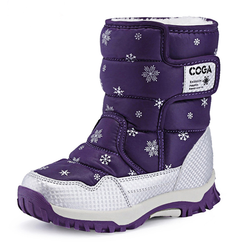 Botas de nieve para niños, zapatos para niñas, botas de invierno, zapatos de felpa a prueba de agua para niños, zapatillas de deporte, botas para niños, 2018 nuevo