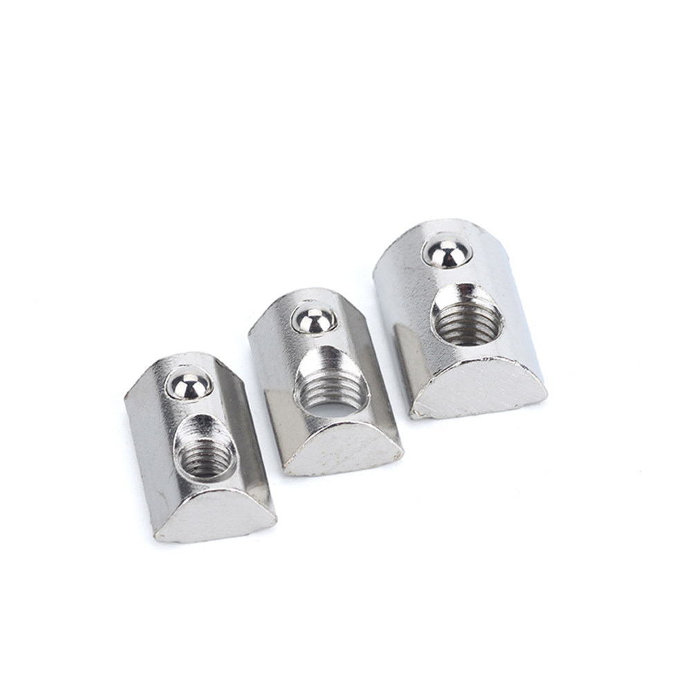 10Pcs M3//M4//M5 Roll In T-Nut Ball Spring aluminum extrusion 2020 3D Printer CNC