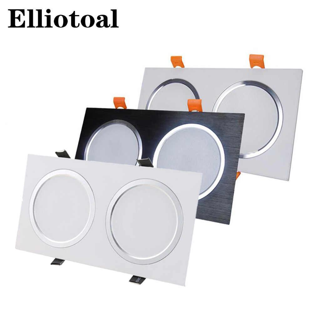 Светодиодное встроенное освещение с двойной точечной подсветкой 3 Вт 5 Вт 7 Вт 12 Вт Анти-противотуманная Решетка Света квадратный потолочный светильник прожектор матовый светильник