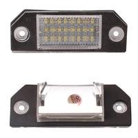 New 2pcs 24 LED 3528 SMD 12V 3W License Plate Lights Bright White Lamps For Ford