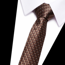 High Quality Tie for Mens 7.5cm Silk Paisley Gravatas Corbatas Men Fashion Pajaritas 2018 Necktie Ascot Navy Blue Brown