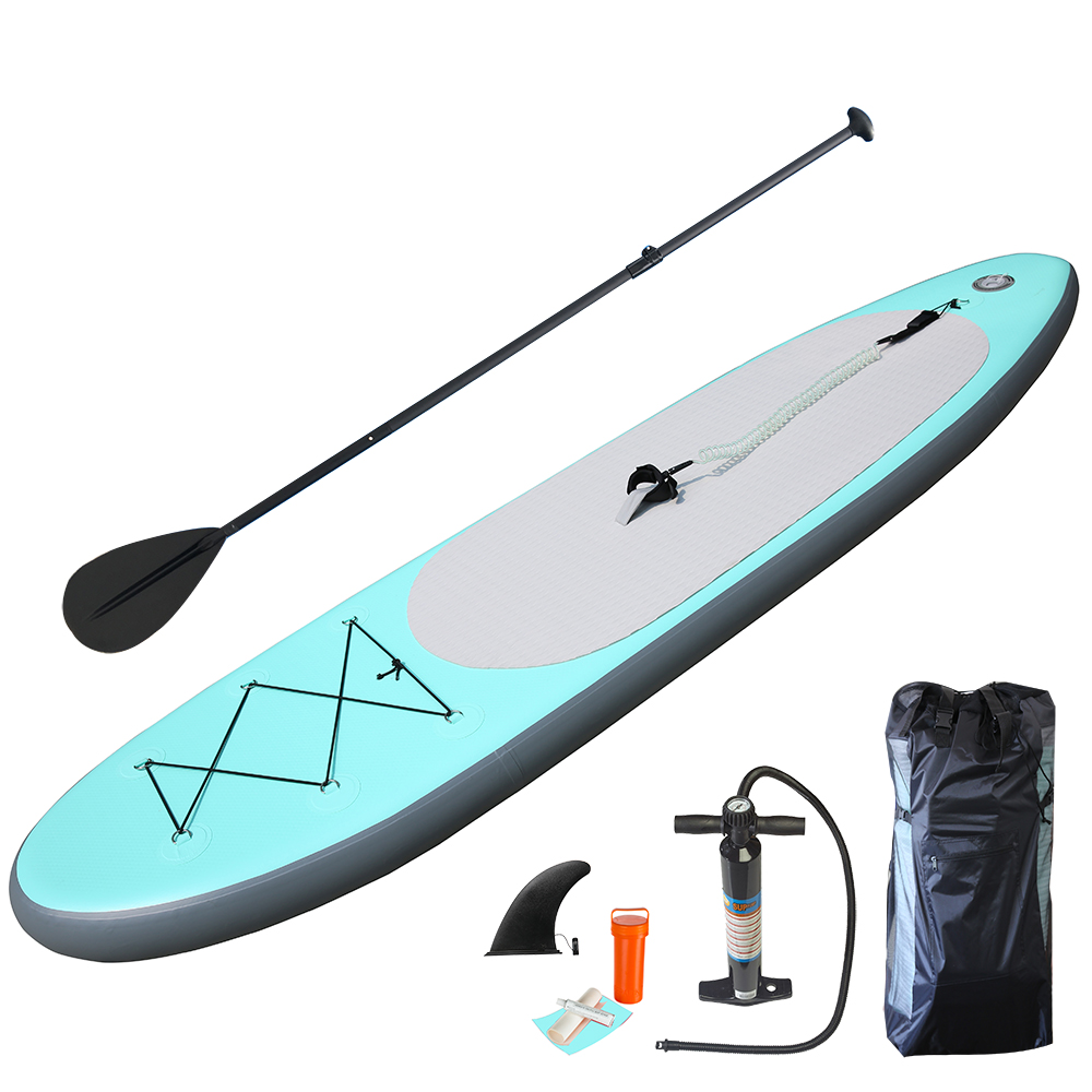 Haute qualité Aqua vert Gonflable Conseil Sup Stand Up Paddle Board Gonflable Planche De Surf