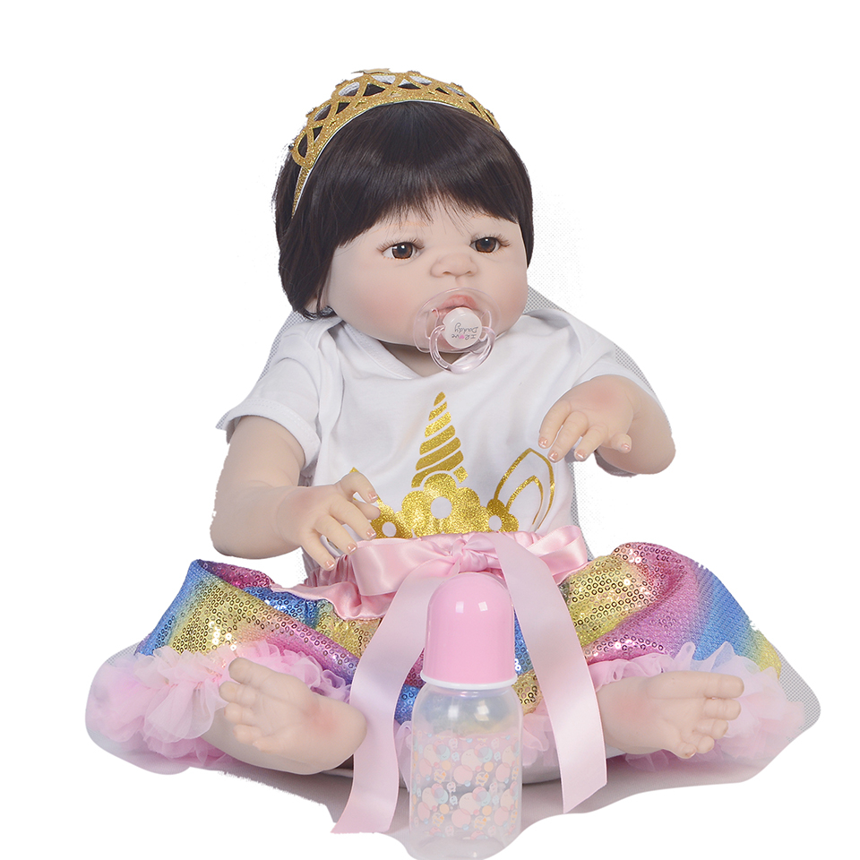23inch Lifelike Babies Boneca Full silicone VInyl Fashion Dolls bebe simulation cute doll  stylish toddlers collection  for sale23inch Lifelike Babies Boneca Full silicone VInyl Fashion Dolls bebe simulation cute doll  stylish toddlers collection  for sale