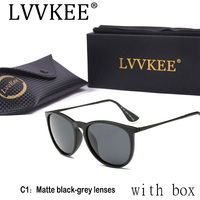 Lvvkee Brand Luxury Sunglasses Woman HD Polarized Glasses Retro Classic Designer TR90 Frame Sunwear UV400 Quality