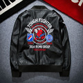 Fashion Badge Patch Japanese Embroidery Young Men's Coat Locomotive PU Leather Jacket