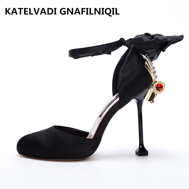 Brand Sandals Shoes Woman Summer Gladiator Sandals Women Sexy Ankle Strap High Heels Luxury Wedding Sandals Dress Shoes F-003 isabel charlotte elvis studded women sandals reviets high heels nubuck leather ankle strap boots gladiator vintage shoes woman