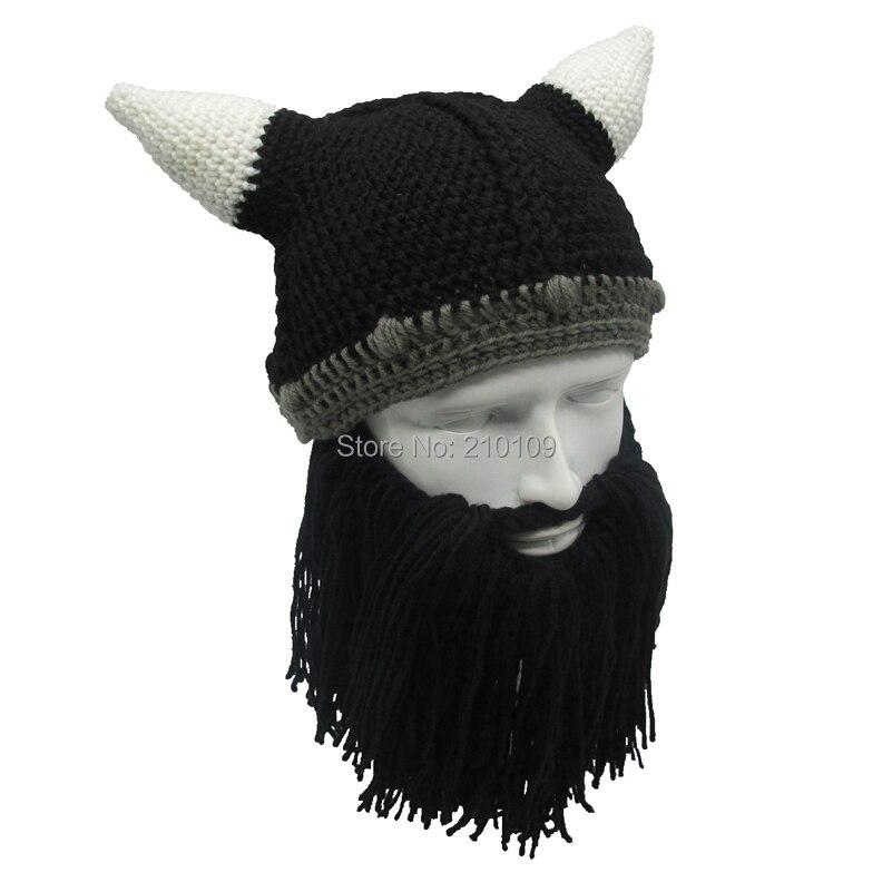 Mr. kooky bárbaro Viking barba Beanie sombrero cuerno hecho a mano ...