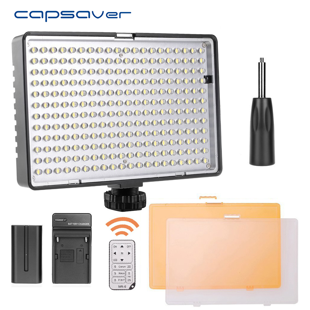 capsaver TL-240S LED Video Light Photography Lighting Dimmable 3200K-5600K CRI93 Handheld Studio Light Lamp with Remote Control