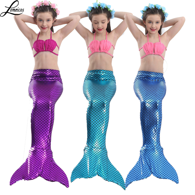 4 Pieces Girlu0027s Swimmable Mermaid Tails Costumes with Monofin For Kids Mermaid Tail Swimwear Cosplay Size  sc 1 st  AliExpress.com & 4 Pieces Girlu0027s Swimmable Mermaid Tails Costumes with Monofin For ...