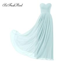 Vestido De Festa Ruffle Sweetheart A Line Long Wedding Party Bridesmaid Dresses Suknelės Robe De Soiree Longue 2017