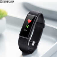 SENBONO New Smart Band 2 Activity Tracker Wristband As Heart Rate Monitor watch For Iphone Huawei Xiaomi Mi Android Phone