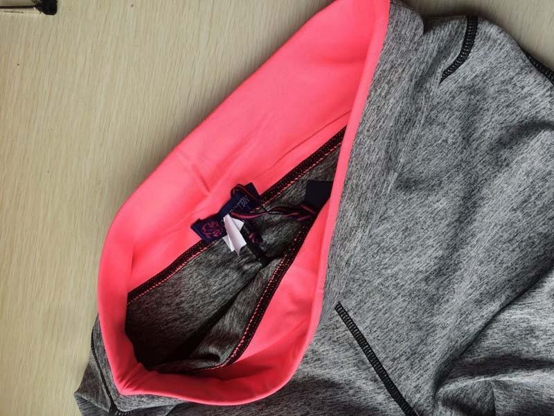 17 Women Lady Activewear Pink Legging Spring Summer light grey Pant Autumn High Waist Leggins 18 American Original Order 14