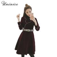 2017 New Spring Velvet Women Suit Blazer Jacket Female Double Breasted Simple Lady Blazers OL Style